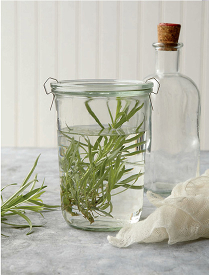 Fill the jars with boiling water and let them stand for 10 minutes before discarding the water